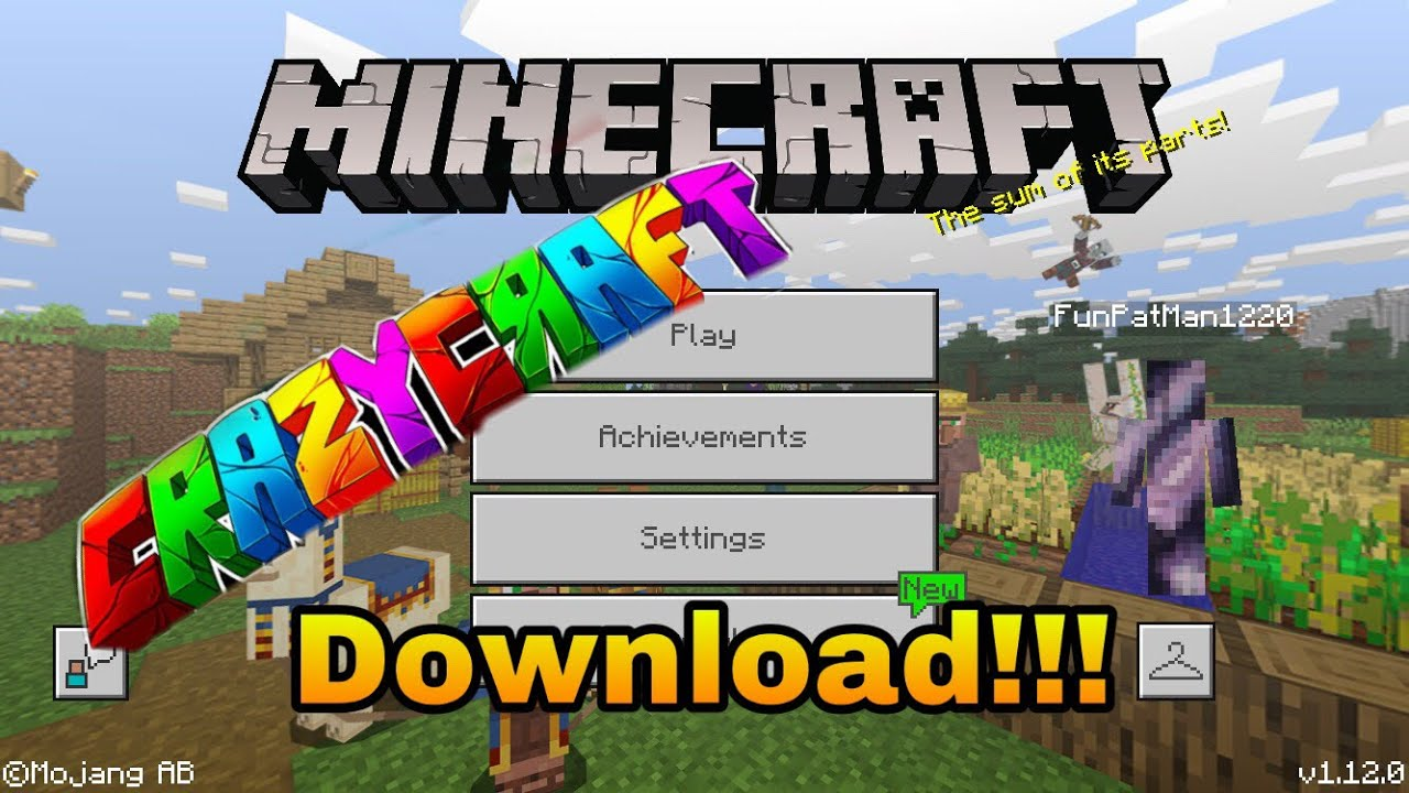 Crazycraft Download Tutorial For Minecraft Pe Ios Android 2020 Youtube