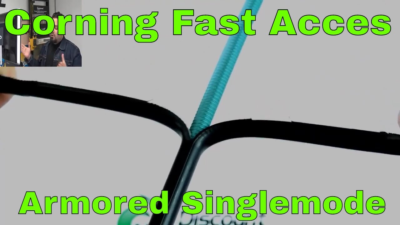 Corning 12-Strand SM Direct Burial Fiber Optic Cable