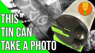 Cool 3D printed pinhole camera from a tin can: The TINHOLE Camera | How to improve a pinhole camera!