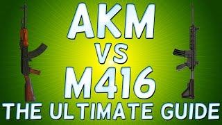 PLAYER Unknown's BATTLEGROUNDS AKM vs M416 - Which ONE is BEST? BATTLEGROUNDS AKM or M416