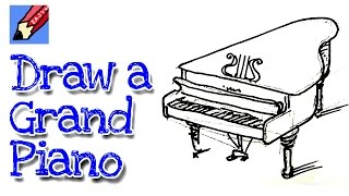 Learn how to draw a grand piano real easy for kids and beginners