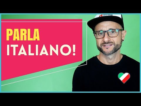 Italian Comprehension / Speaking Practice Exercise [Video in Italian]