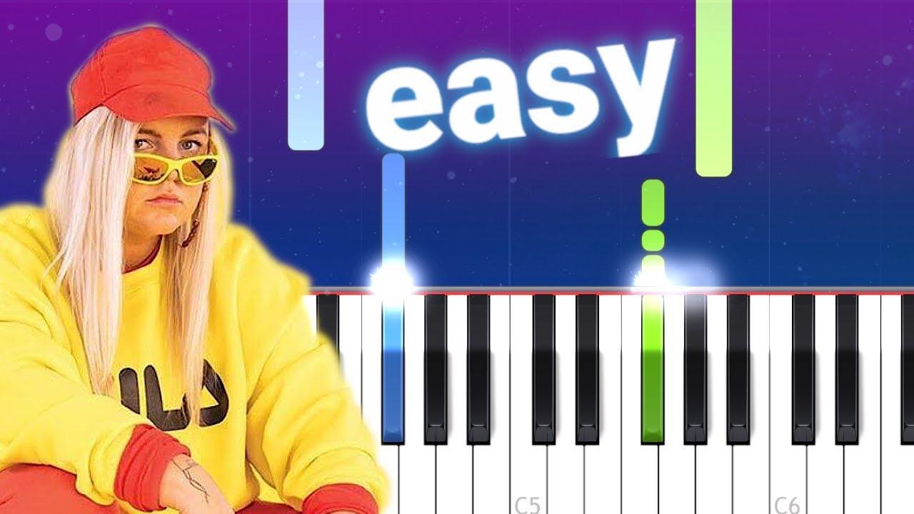 Tones And I Dance Monkey 100 Easy Piano Tutorial Youtube