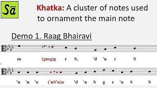 Khatka in Indian classical music - Raag Hindustani