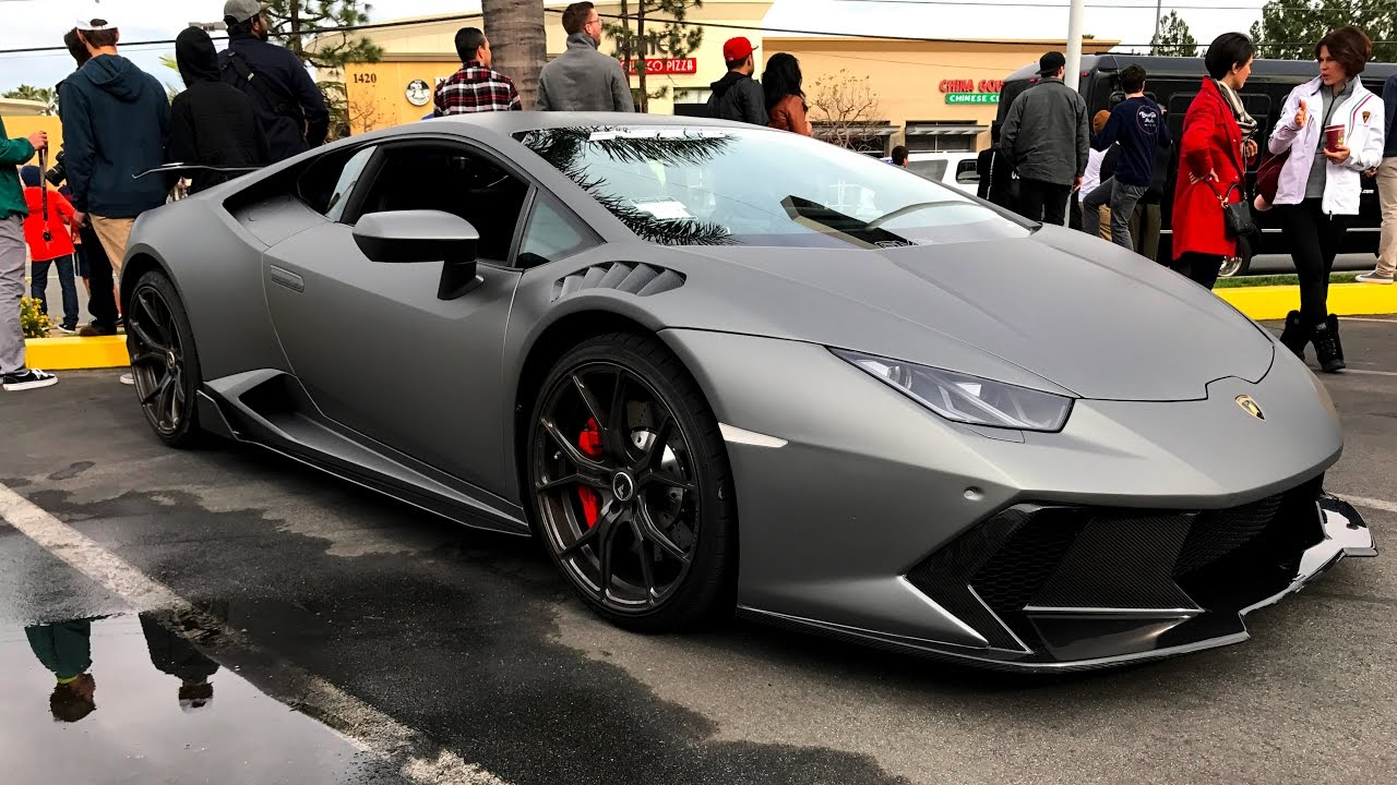 Lamborghini Newport Beach 2017 First Supercar Show 01/07/2017