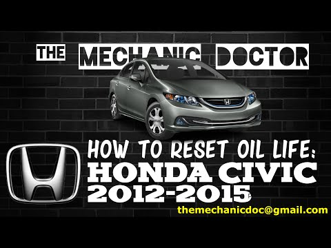 How to reset oil life: Honda Civic 2012-2015