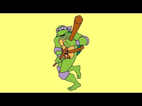 How to draw Donatello Teenage Mutant Ninja Turtles 1987 TV series step by step easy
