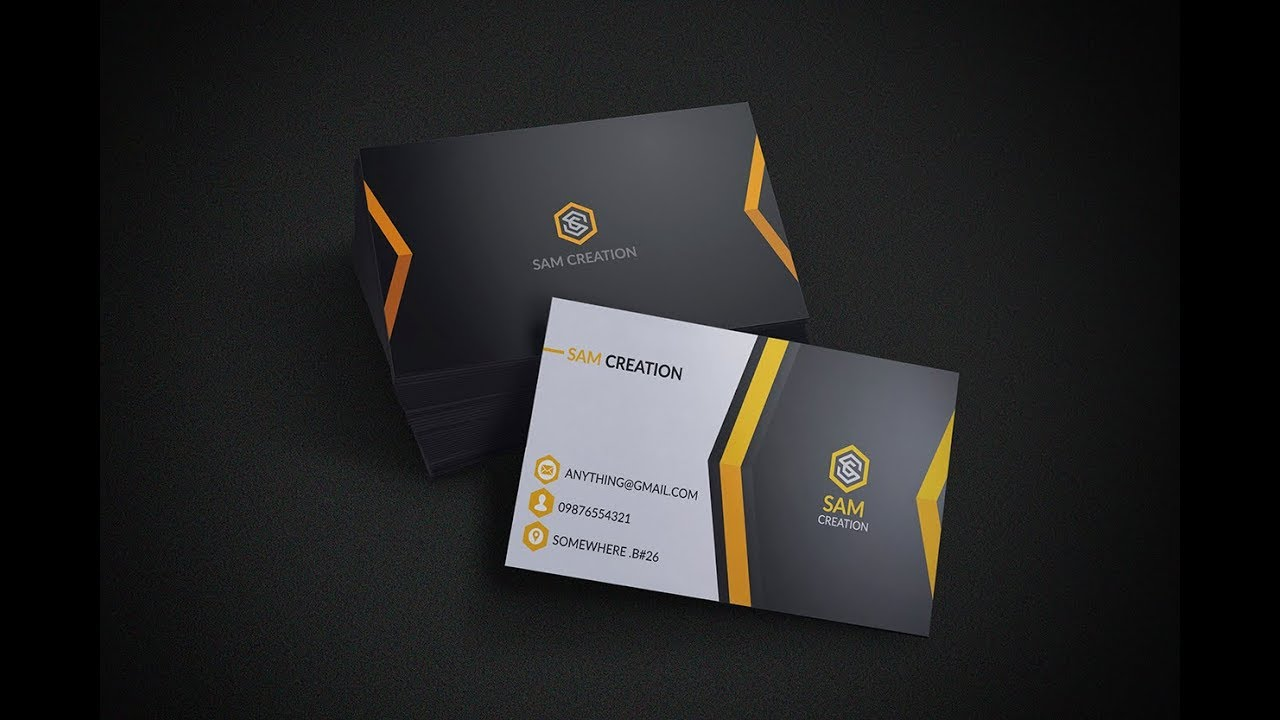 how to create a business card in photoshop cc