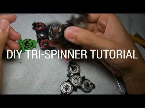 $1 ZIP TIE CABLE TIE FIDGET SPINNER TOY DIY TUTORIAL TRI STYLE