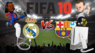 REAL VS BARCA ON THE Wii!!! RETRO - FIFA 10 Gameplay