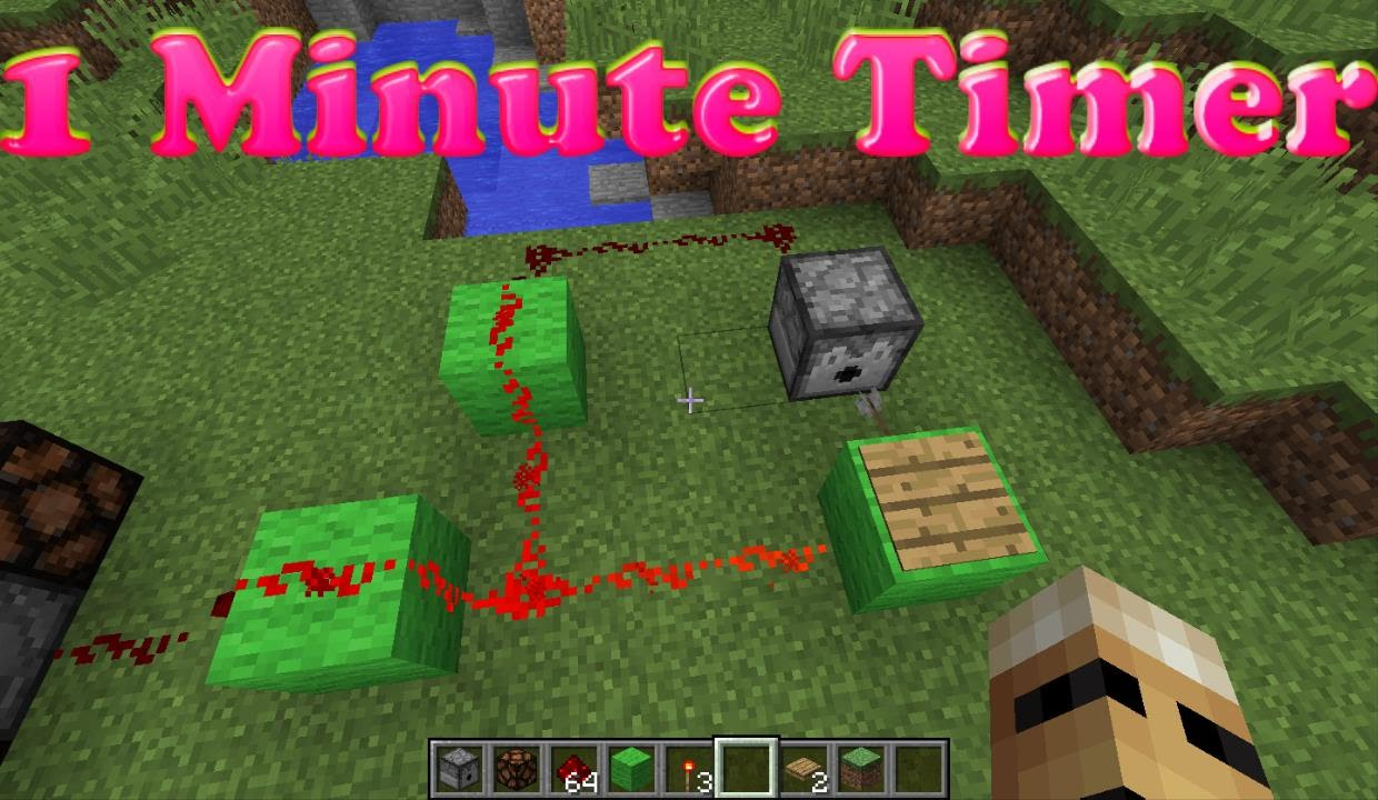 minecraft simple 1 minute timer