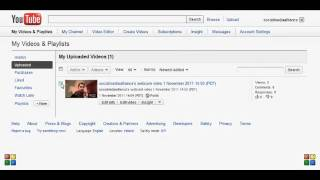 How to Delete a Video From Youtube 2012