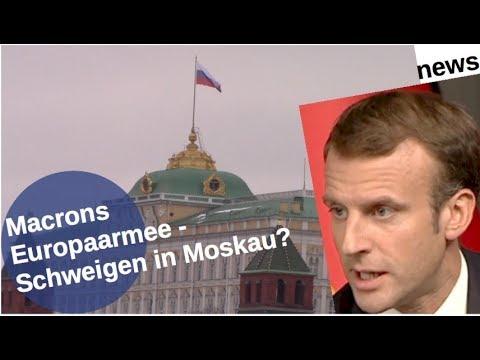 Macrons Europaarmee: Schweigen in Moskau?