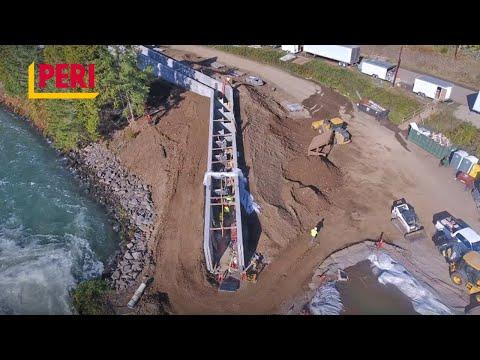 PERI DUO Lightweight Formwork Customer Review – Eugene Fish Ladder Project, Oregon, USA