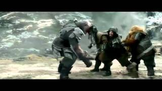 The Hobbit: The Battle of the Five Armies - Extended Edition: Bifur Lose Axe, Bombur Speech! (HD)