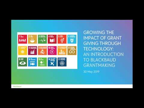 Growing the Impact of Grant Giving through Technology Webinar