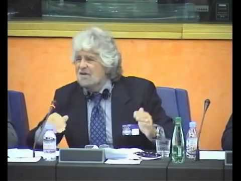 Beppe Grillo, spokesman of the 5 Star Movement,  Strasbourg Speach, ENG SUB, COMPLETE