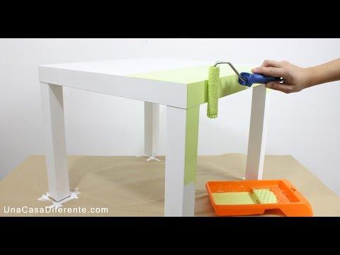 Cmo pintar muebles de melamina  Mesa Lack Ikea  YouTube