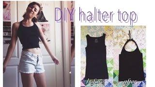 DIY halter top (NO SEW)