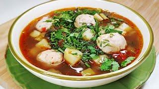 Шикарный рецепт с баклажанами! Суп из БАКЛАЖАНОВ с фрикадельками. Варю каждую неделю и не надоедает!