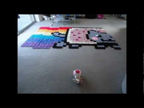 Nyan Cat Rug / Blanket Time Lapse