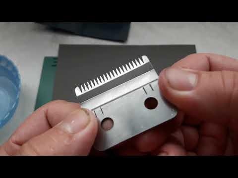 Как точить ножи машинки для стрижки