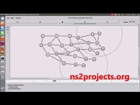 Device to Device Communication Networks using NS2 | NS2 Projects