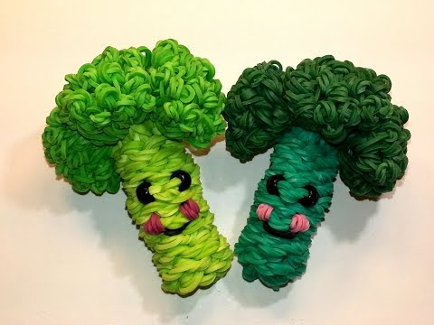 3-D Happy Broccoli Tutorial by feelinspiffy (Rainbow Loom)