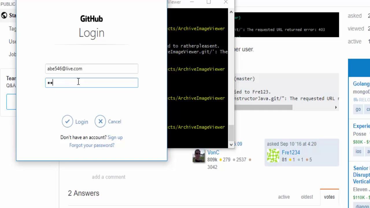 GitHub Error : Permission To {repo} denied to {user}, 403 Credential Based  Error Solution