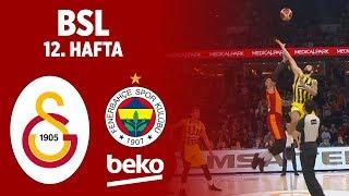 BSL 12. Hafta Özet | Galatasaray 84-74 Fenerbahçe Beko