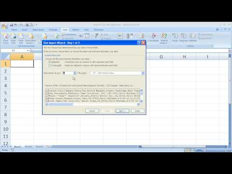 Excel Data Analysis 2 - Import CSV Files into Excel