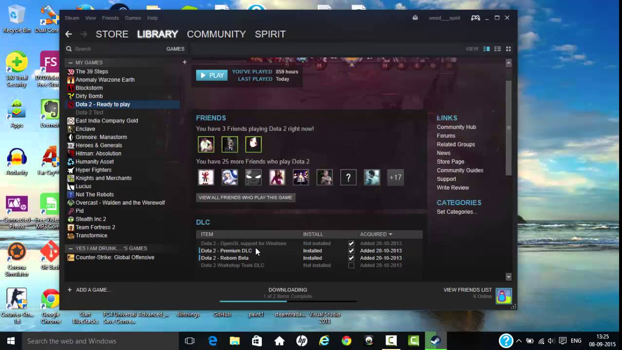 Why DotA 2 is not launched and how to fix it