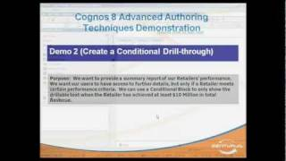 ibm cognos report studio conditional drill through