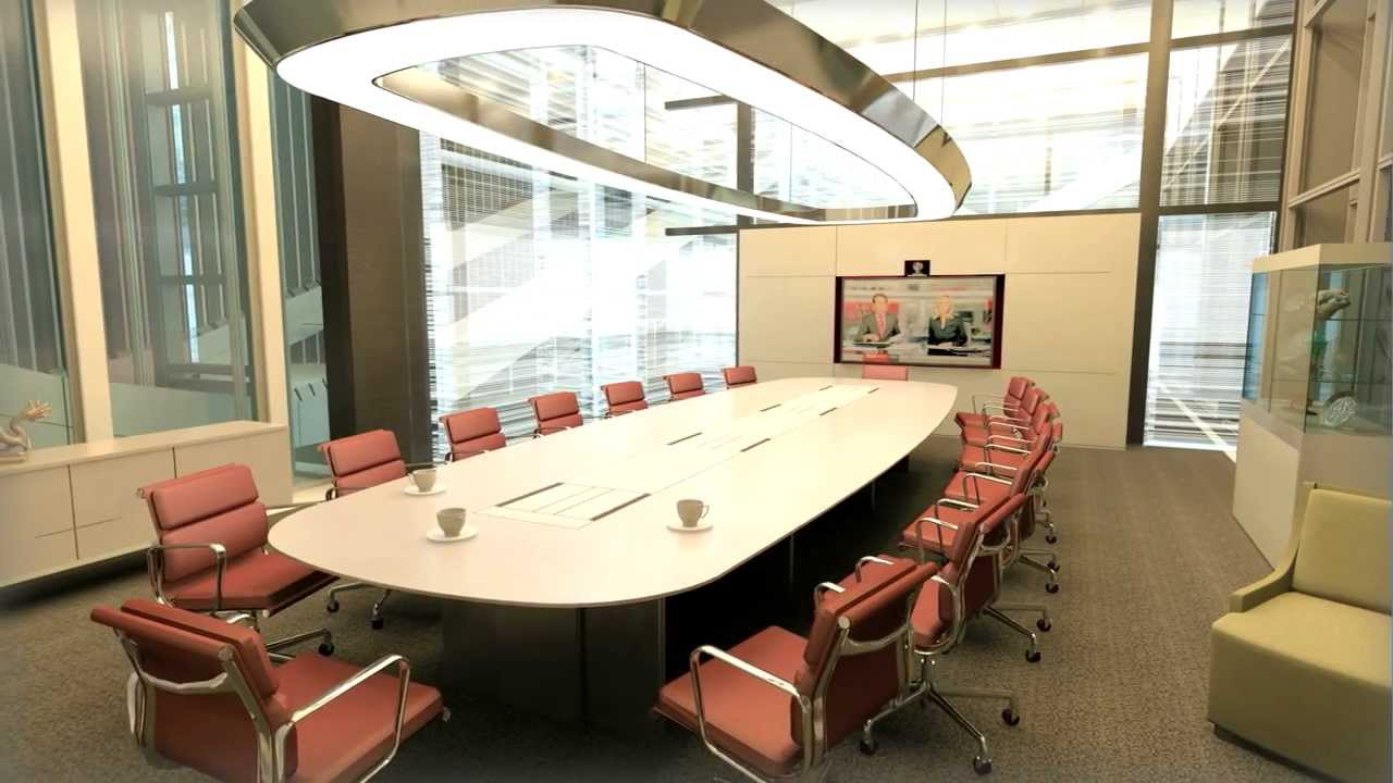 Conference room animation interior design 3d studio max for 3d room design mac
