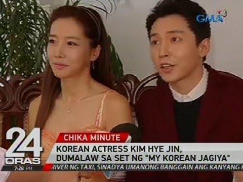 Korean Actress Kim Hye Jin, dumalaw sa set ng 'My Korean Jagiya'