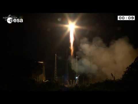 Galileo launch (sat 9 & 10) - liftoff
