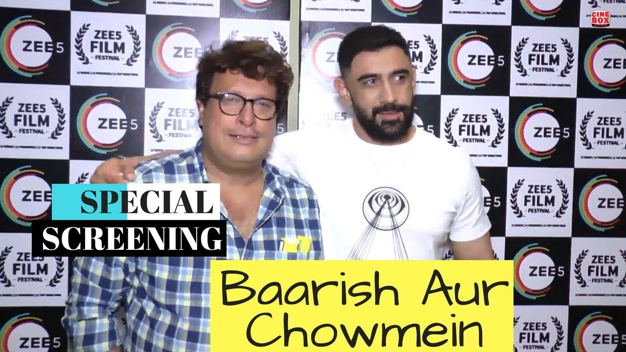 Download Tigmanshu Dhulia & Amit Sadh At The Special Screening Of 'Baarish Aur Chowmein'