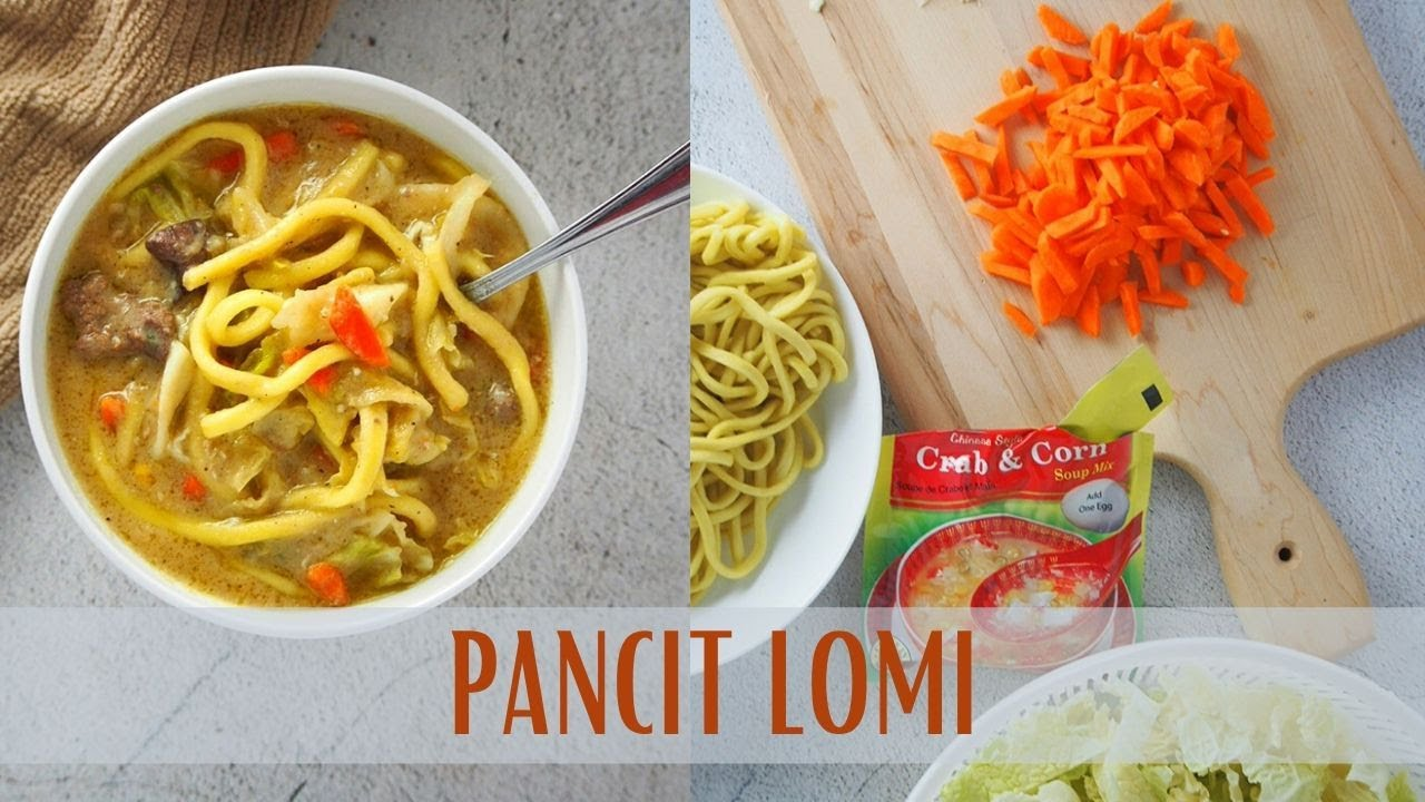 Easy Pancit Lomi Soup With Chicken Kawaling Pinoy