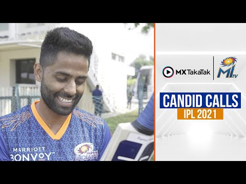 MI Candid Calls with Surya | सूर्या के बैट्स पे चर्चा | IPL 2021
