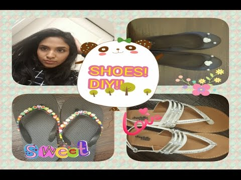 Shoes! DIY!! Bedazzled ! Cute ! Under 5!