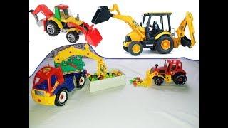 Мультик для детей, Собираем Экскаватор и трактор, Collect an excavator and a tractor
