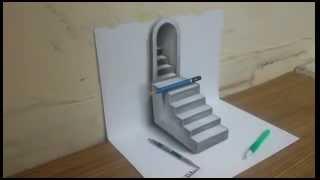 hướng dẫn vẽ tranh 3D  bằng bút chì đẹp đơn giản 3d super beautiful drawing