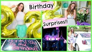 MY BIRTHDAY SURPRISES!!!! + DISNEYLAND!!