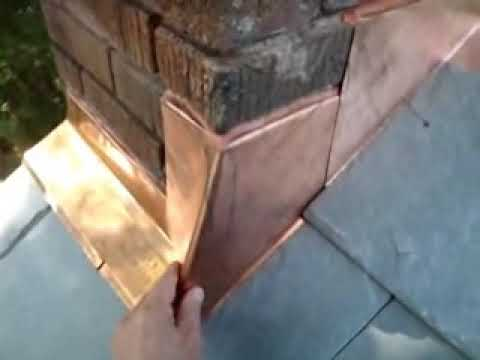 Flashing A Chimney Folding The Corners Youtube