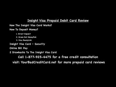 Insight Visa Prepaid Debit Card Review