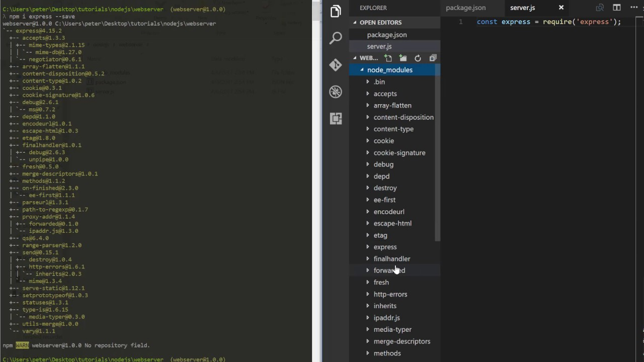 Starting with NodeJs | Building a basic webserver with Express