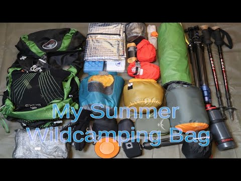 Solo Wild Camping Summer Kit | What I Carry On My Camps..
