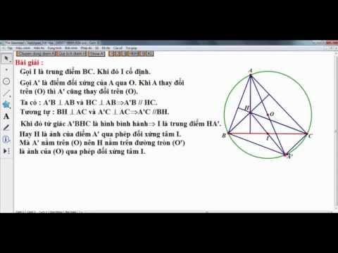 Ứng dụng phần mềm GSP trong dạy hình học 11