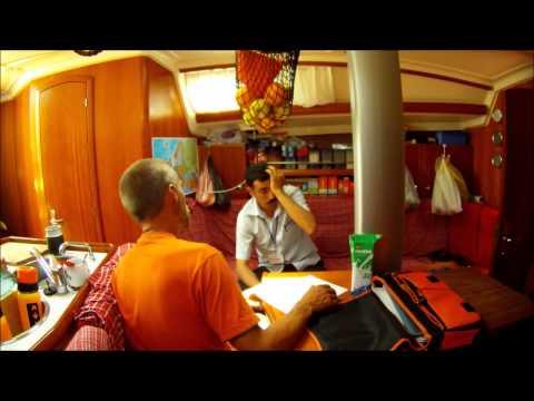 Sailing Algeria: X-Trip on Tour passport control
