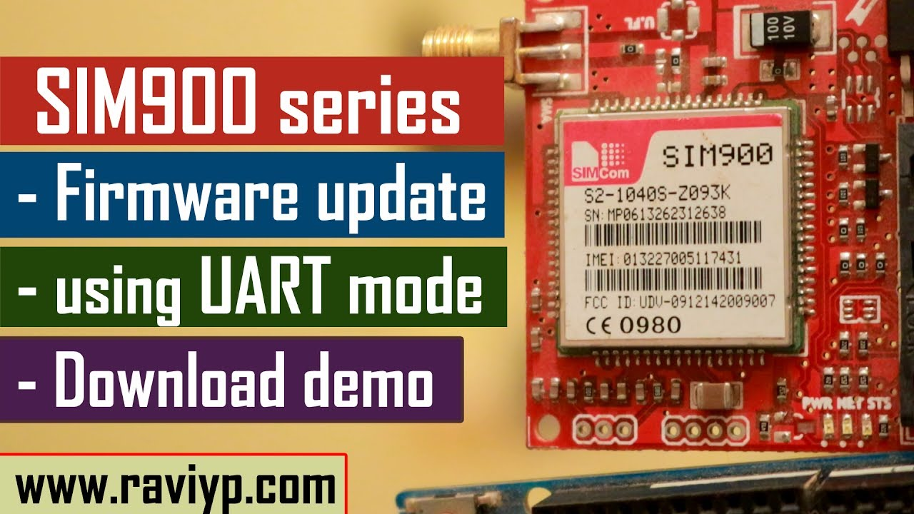 Uploading A New Firmware Image To SIM900 GSM GPRS Module